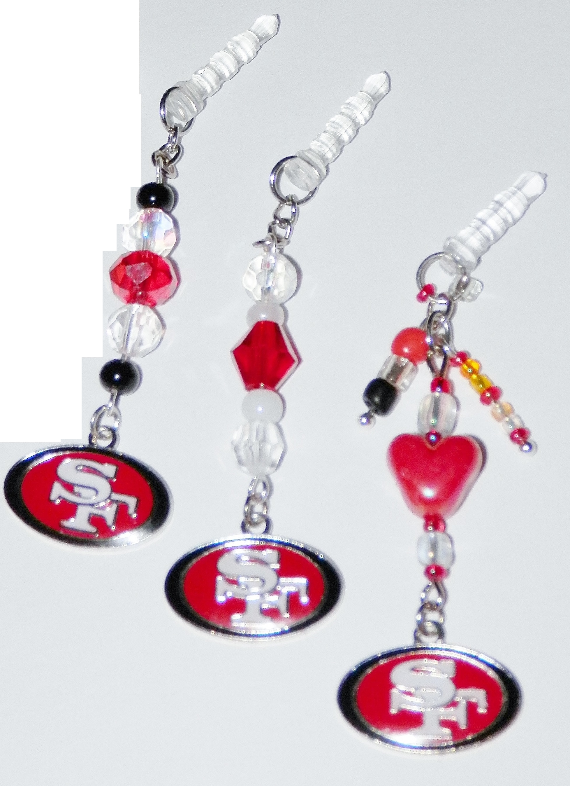 Nfl sf 49ers cell phone dust plug ear cap ear phone jack for Sf contact nackenkissen small