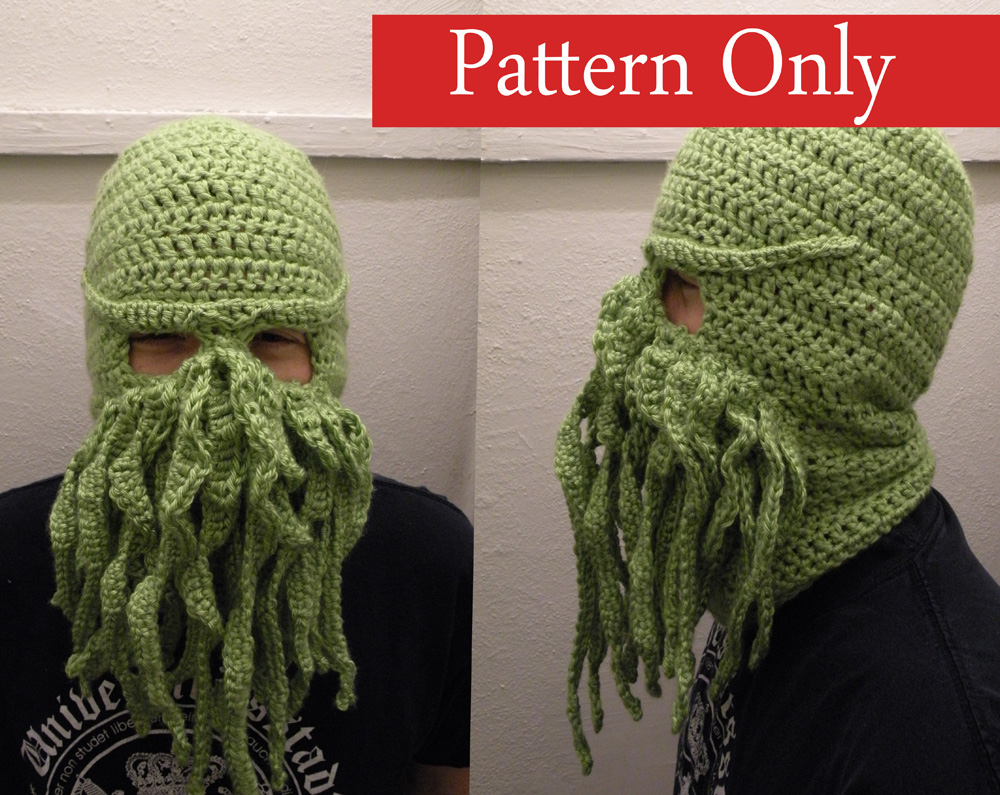 Free crochet pattern cthulhu hat traitoro for cthulhu ski mask crochet pattern phoenix dawn creations bankloansurffo Choice Image