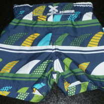 Navy/Green/Yellow Swim Trunks-NEW-CIRCO Size 12 Months