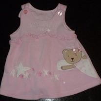 Pink Dress with Bear-Little Shining Star-Wishes and Kisses Size 3-6 Months