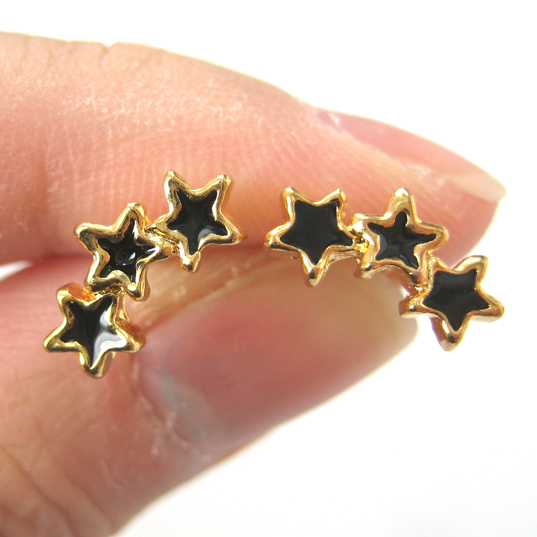 carat earrings certified diamond stud shaped star gold white igi sapphire blue