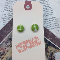 Spring patterned Button Earrings *More patterns available