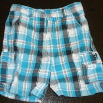 Blue Plaid Shorts-South Pole Size 3T