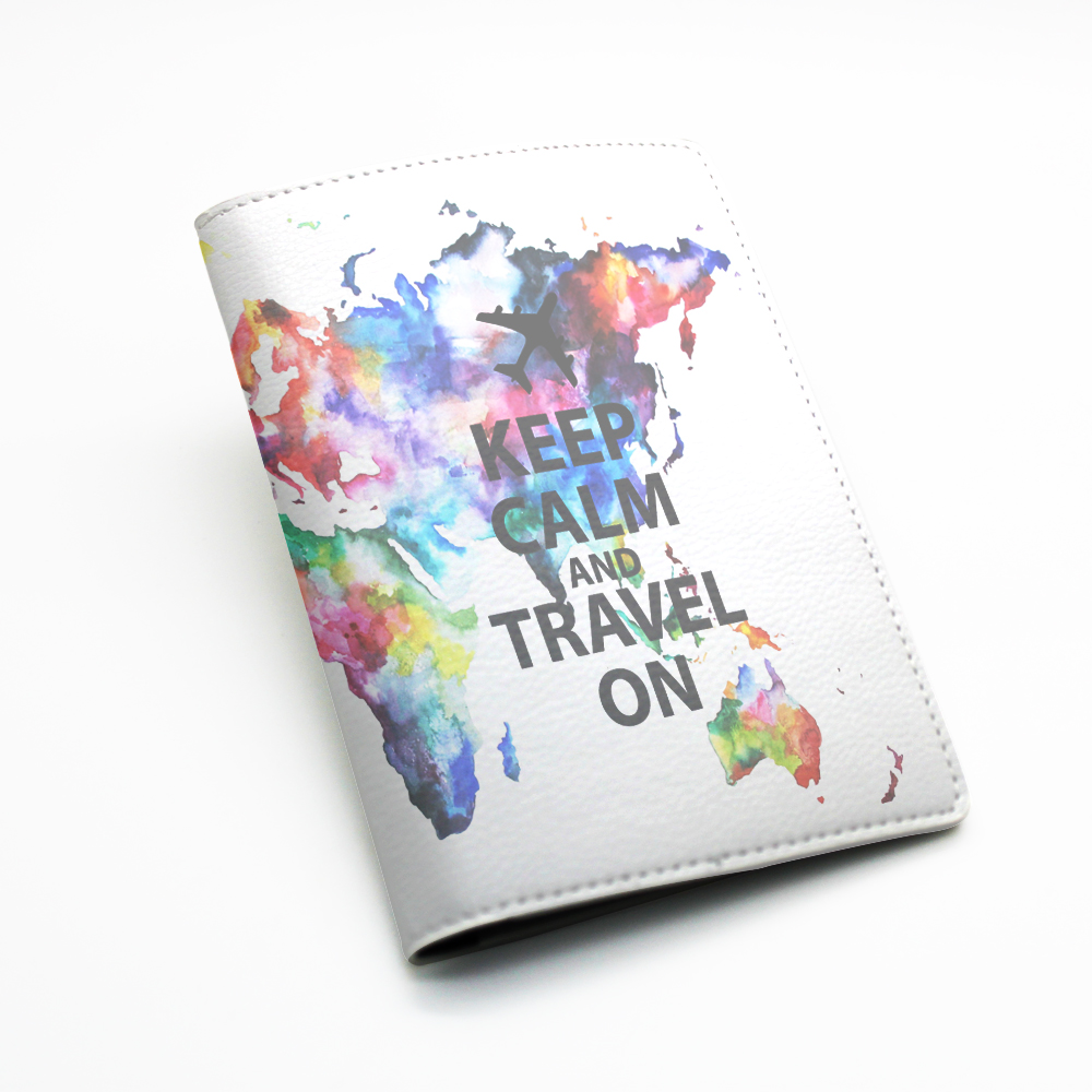 Pu leather passport holder case cover travel wallet colorful pu leather passport holder case cover travel wallet colorful world map design keep gumiabroncs Gallery