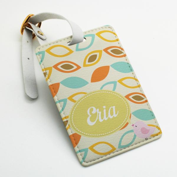 Custom made personalized pu leather Luggage Tag, wedding favor tag ...
