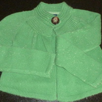 Green Sweater with Large Button-Gap Kids Size 8