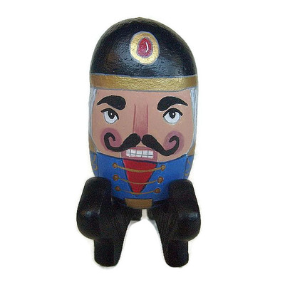 Nutcracker painted rock with stand - free usa shipping