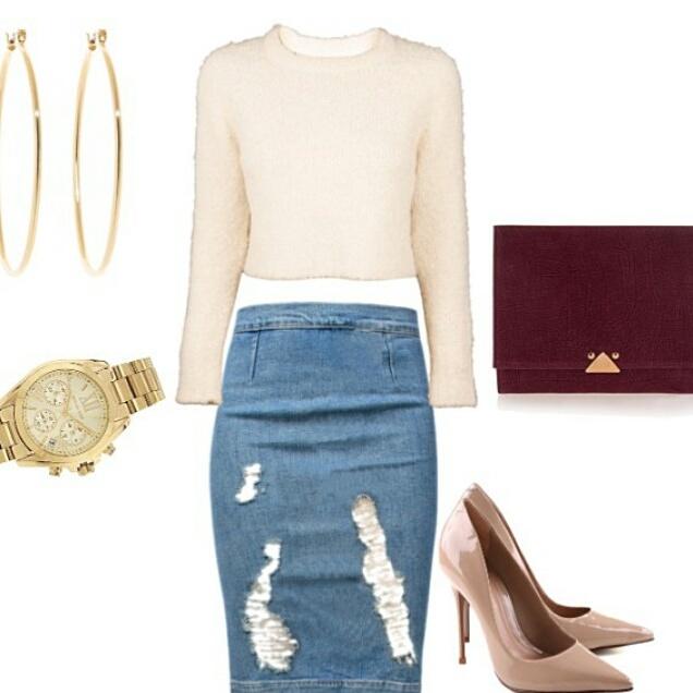 plus size destroyed denim skirt · Enchanting Bijou · Online Store ...