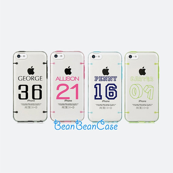 Personalized Iphone 6 Case Iphone 6 Plus Case Iphone 5 5s 5c Clear Case Basketball Player Name Number Monogrammed Custom Name L47 From
