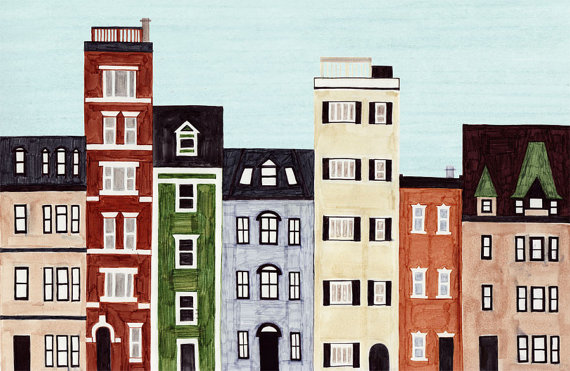 Boston back bay massachusetts new england brownstones for Building a house in ma