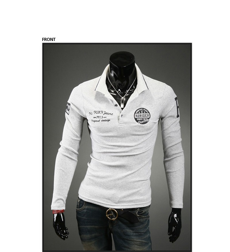 Men 39 s long sleeve cotton t shirt fashion embroidered for Long sleeve t shirts design