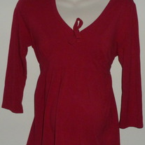 Red Shirt with Tie at Top/Middle-Motherhood Maternity Size Medium