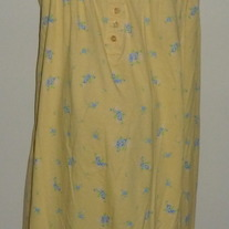 Yellow Gown with Blue Flowers-Dreams and Co Size 2X