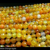 Orange Yellow Agate 8mm (96 cut faceted)