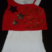 Red/White/Blue Tank Top-Justice Size 6