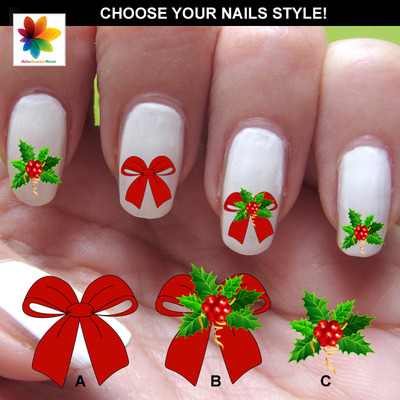 Holly nail art images nail art and nail design ideas winter christmas nailsgraphicworld online store powered by holly ribbonschristmas lights nail art nail art 4 strips prinsesfo Gallery