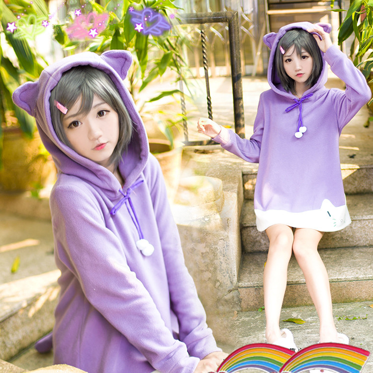 Kawaii Cute Cat Ears Hoodie On Storenvy