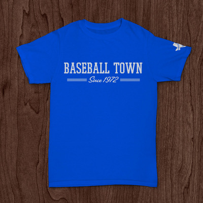 Youth baseball town blue