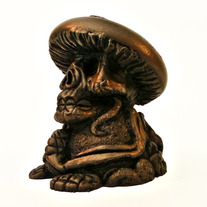 COLD CAST BRONZE DEATH CAP (amanita must scare ya) 3 inch resin