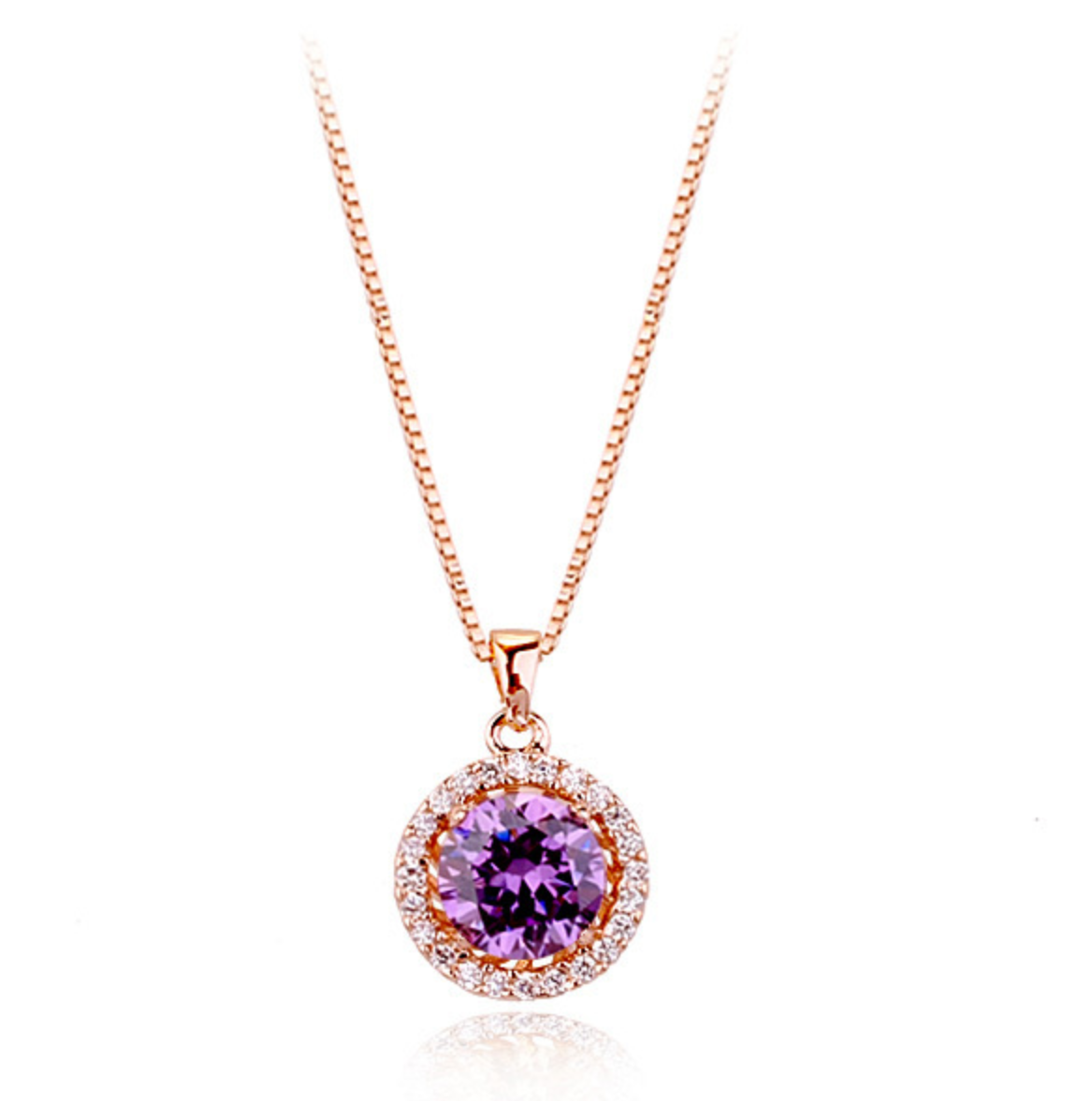 Ellangelcollection fine jewelry collection purple round for Fine jewelry diamond pendants