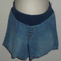 Denim Shorts-Motherhood Maternity Size Large  03087