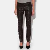 Blank Faux Leather Pants XS