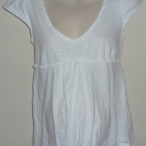 Short Sleeve White Shirt-Liz Lange Maternity Size Small