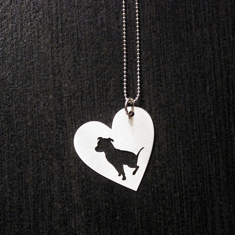 Sterling silver sitting pit bull in heart necklace larry the dog sterling silver sitting pit bull in heart necklace aloadofball Choice Image