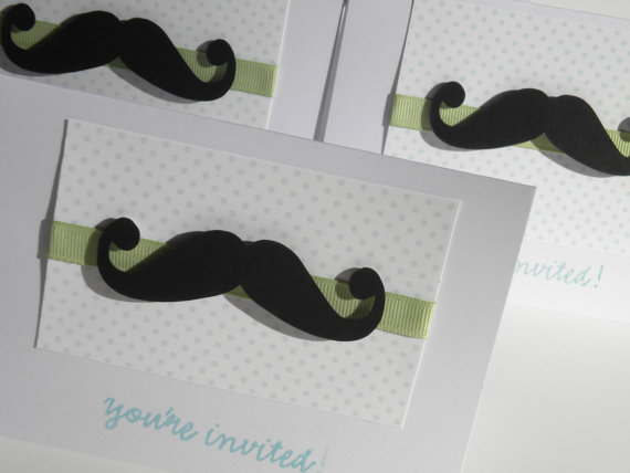 ... Mustache Baby Shower Invites, Thank You Cards, Announcements    Thumbnail 4
