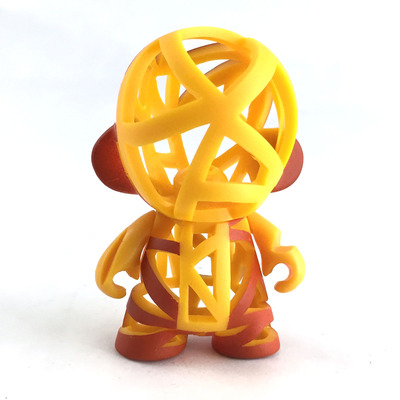 Orange and yellow micro munny