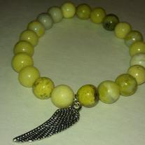Green Angel Wing Bracelet
