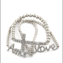 Cross Love Amor Bracelet  Silver