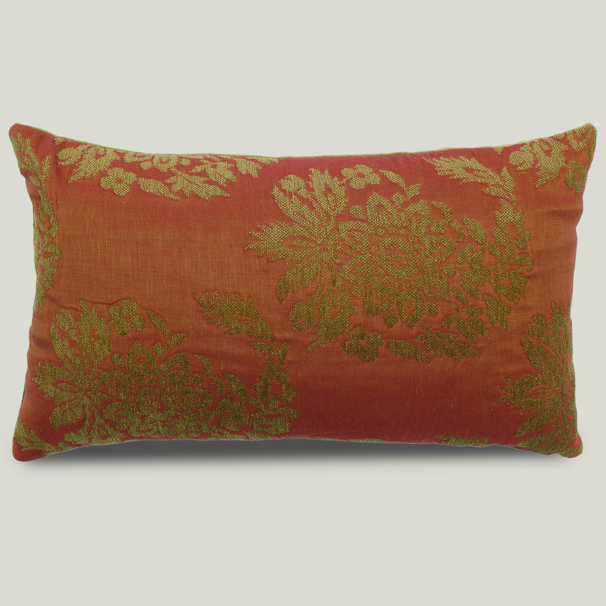 12 x 20 designer orange decorative throw pillow cover for Luxury decorative throw pillows