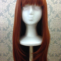 Long Copper Red Wig