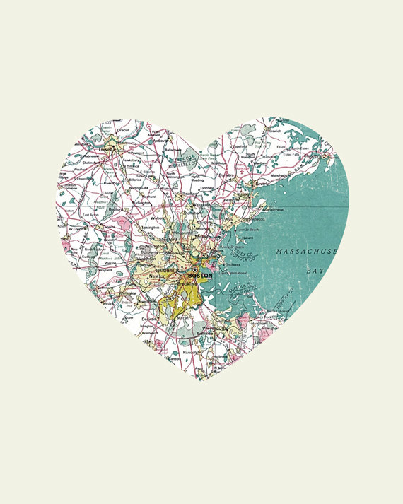 Luciusart boston art city heart map 8x10 art print online boston art city heart map 8x10 art print gumiabroncs Images