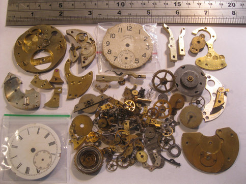 100g pocket watch parts steampunk jewellery altered arts for Steampunk arts and crafts