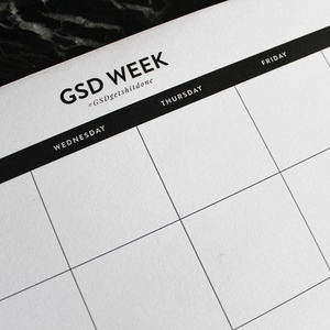 GSD WEEK NOTEPAD