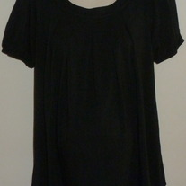 Black Short Sleeve Top with Tie in Back-Liz Lange Maternity Size Medium