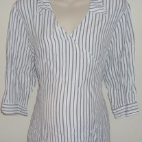 White/Black Pin Stripe Shirt-Motherhood Maternity Size 2X