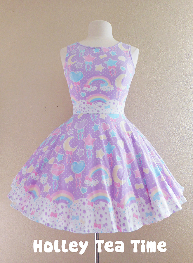Pastel party lavender Skater Dress MADE TO ORDER · Holley ...