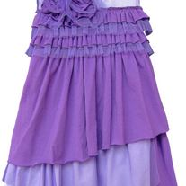 """jenny lilac"" Ruffled Dress"