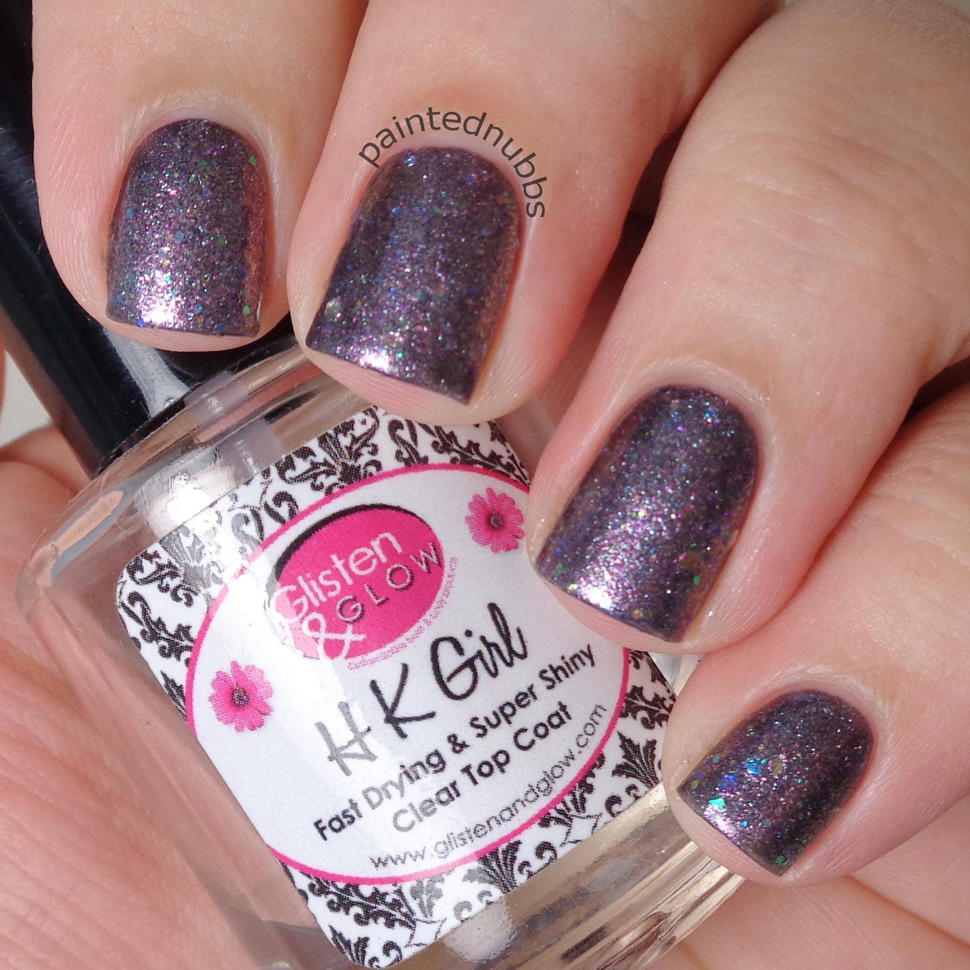 Rosy Cheeks - Custom Winter Interference Iridescent Glitter Nail ...