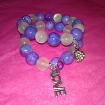 Purple Bubblegum Bracelets (Little Diva Collection)