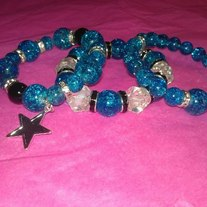 Blue Star Shattered Beads Stack (Little Diva Collection)