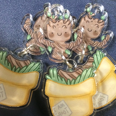 Dancing groot charms