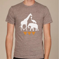 Brown Ugandan Wildlife Shirt