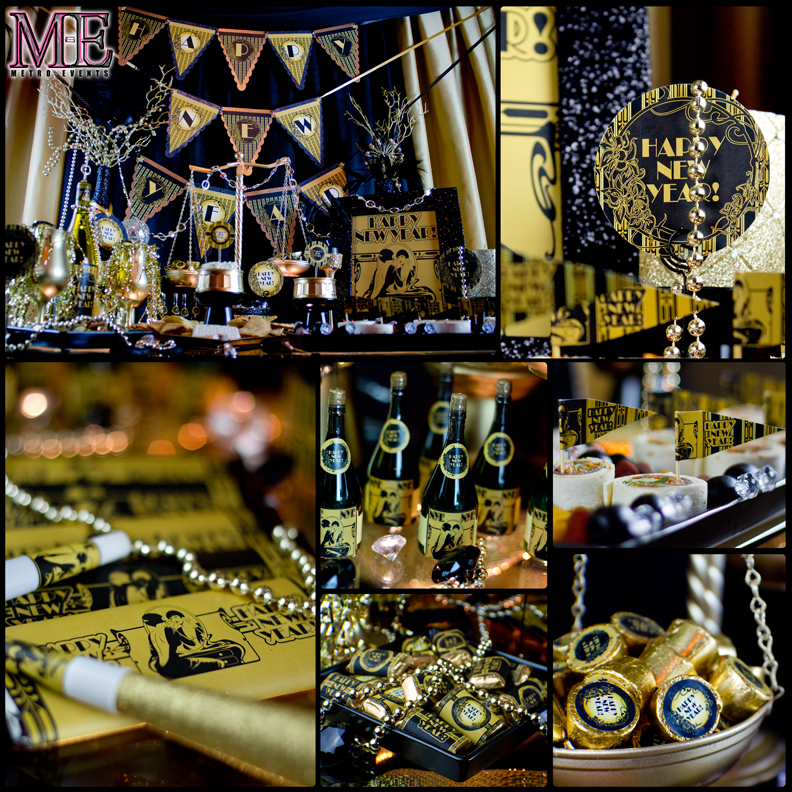 Gatsby party decorations 1920 39 s theme party metro for 1920 decoration ideas