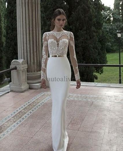 Long Sleeve Lace Wedding Dress Tumblr