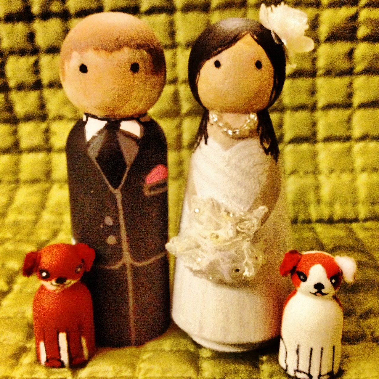 CUSTOM Wedding Wooden Cake Toppers · The Enchanting Shop · Online ...