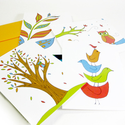 Bright organics all-occasion notes set (joyful abode)